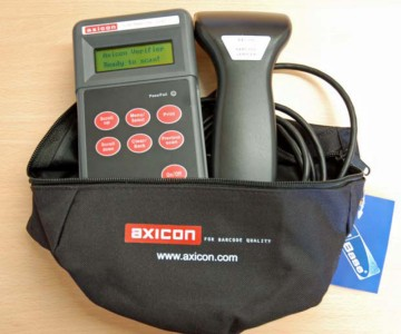 Axicon. Barcode verifiers / barcode checkers / ANSI and ISO grades. Axicon PV-1000 (PV-1072) series - mobile hand held verifier for retail barcodes. Lowest price at barcode.co.uk