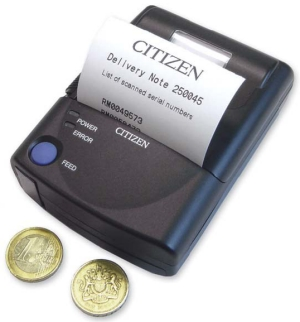 BARCODE.CO.UK - stock Citizen PD22 mobile thermal label / receipt ...