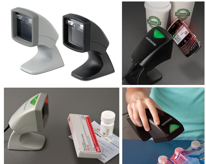Datalogic (PSC). Presentation / omni-directional barcode readers / pattern scanners / holographic. Datalogic Magellan 800i omnidirectional presentation barcode scanner. 1D and 2D models. Also reads barcode on mobile phone screens. Lowest price at barcode.co.uk