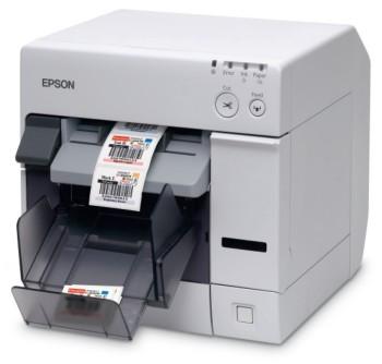 Barcode Co Uk Stock Epson Tm C3400 Roll Fed Colour Label