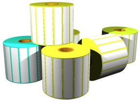 "Eltron. Labels. Eltron direct thermal labels, 5"" outside diameter rolls.. Lowest price at barcode.co.uk"