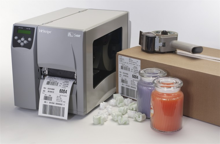 Zebra (Eltron). Midrange (workhorse) thermal label printers. Zebra S4M thermal transfer and direct thermal label printer. High speed and large capacity. Free label design software. Lowest price at barcode.co.uk