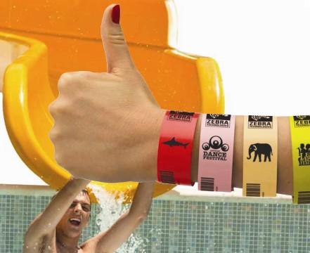 BARCODE CO UK - stock Zebra wristbands ZBand Fun, Z-Band Splash